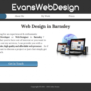 Evans Web Design website