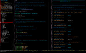 Screenshot of typical coding experience