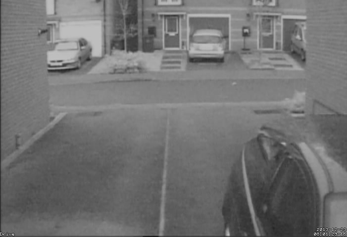 Screenshot of the working outside CCTV images