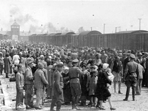 Image of the selection process at Birkenau