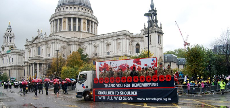 The British Legion float at the Lord Mayor's Show